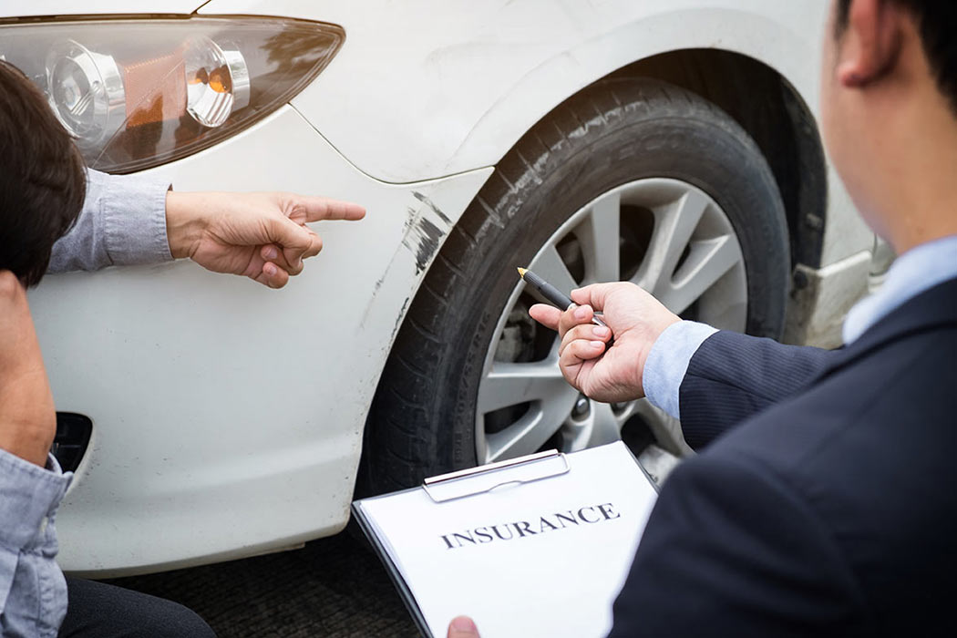 Car hire insurance inspection