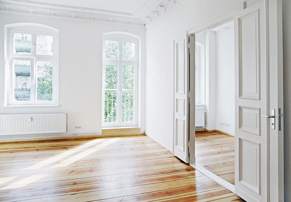 Empty room in unoccupied house