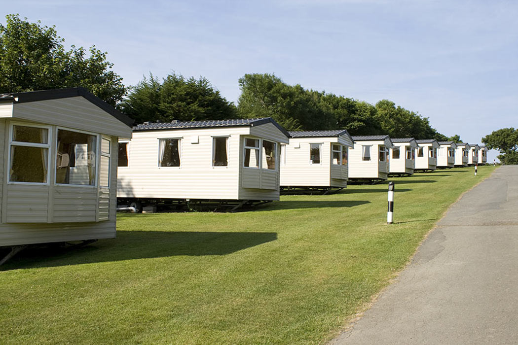 Row of mobile homes