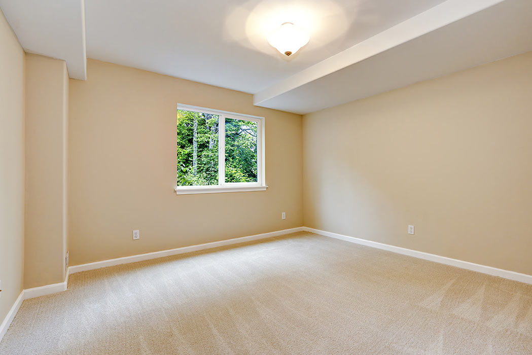 Empty bedroom in unoccupied house