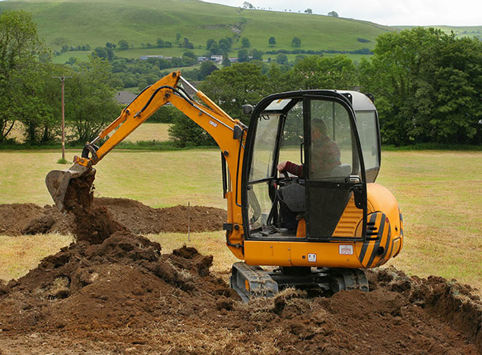 small digger in use