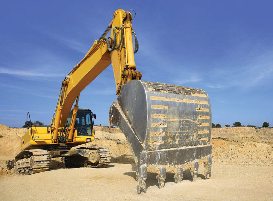 Large excavator during groundworks